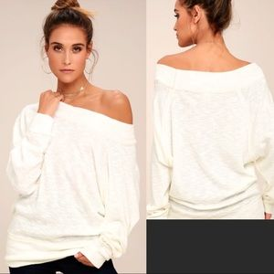 NEW Free People Palisades White Off Shoulder Tunic
